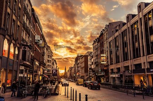 coucher de soleil Lille
